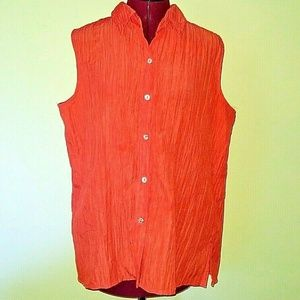 White Stag Size XL Shirt Button Down Sleeveless